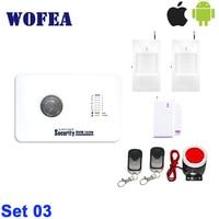 Kostenloser versand home alarm kit mit IOS & android APP control security GSM alarm system 7 drahtlose zone + 3 verdrahtete zone