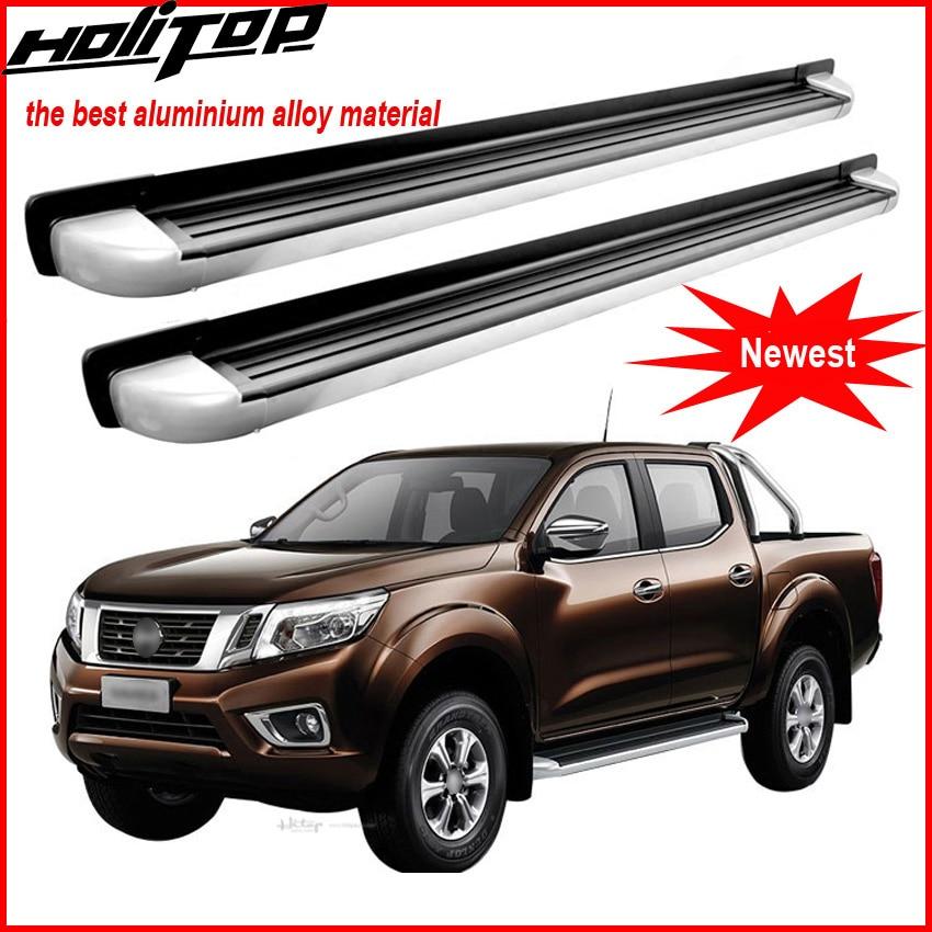 Estribo side step nerf bar para Nissan Navara NP300, de alta qualidade, pode carregar 230 kg, engrossar liga de alumínio, de grande fábrica