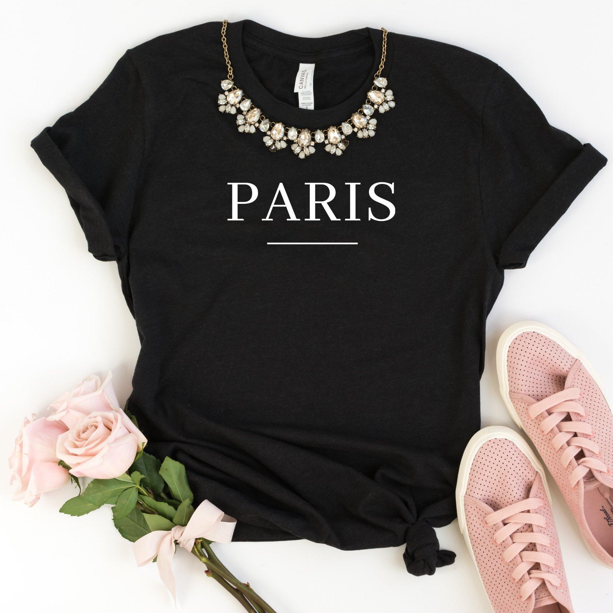 Paris Women Tshirt Casual Cotton Hipster Funny T-shirt For Lady Yong Girl Top Tee Drop Ship ZY-223