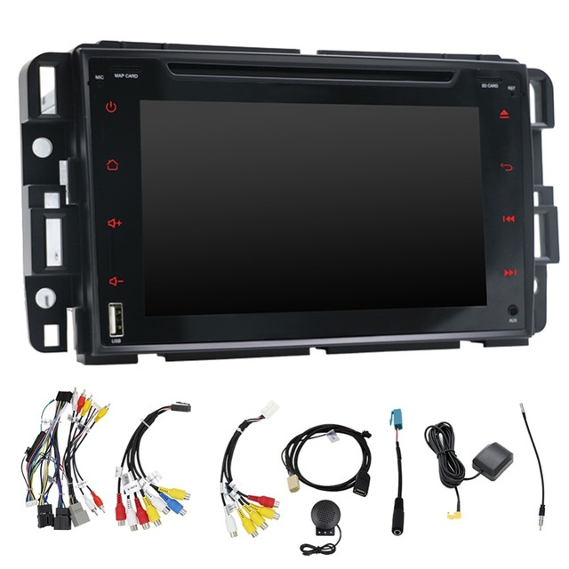 Double Din Head Unit,in Dash GPS Navigation 7' Car Stereo for GMC Yukon/Chevrolet Tahoe,Android 7.1 Car Radio with Rear Camera