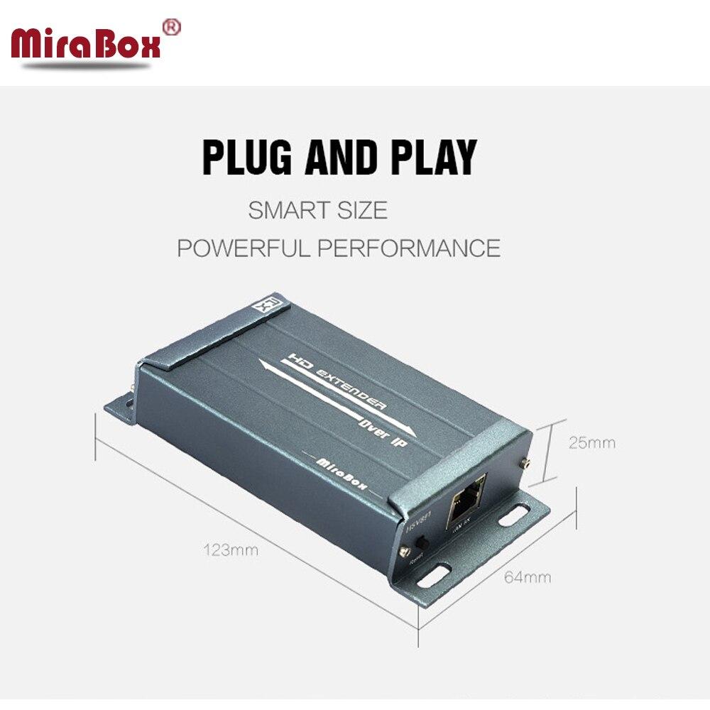 120m HDMI Extender 1 expéditeur 2 Support récepteur 1080P avec extracteur Audio sur Cat/5e/6 Rj45 LAN câble HDMI Extender sur TCP IP