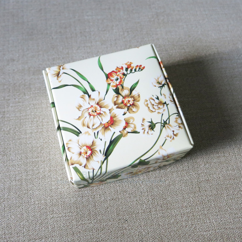 50pcs Floral Paper Box Handmade soap Crafts Jewelry Wedding Gift Packaging Box