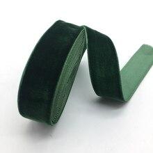 3 ярда 20 мм бархатная лента Свадебная вечеринка украшение ручной работы лента Подарочная упаковка бантик для волос DIY Рождественская лента# темно-зеленый