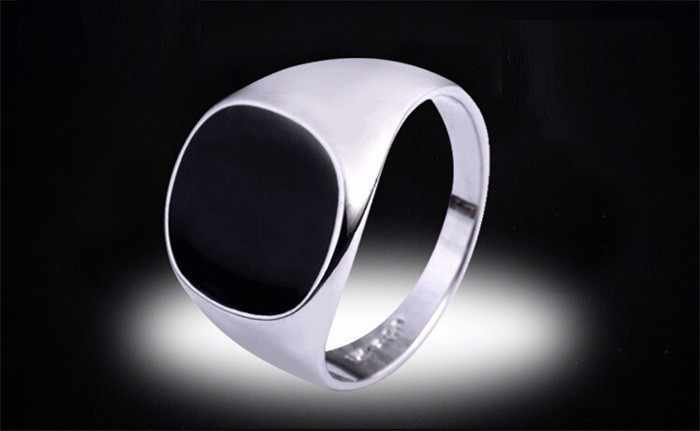 決してフェード 316L ステンレス鋼リングでいっぱい 18 18KRGP スタンプブラックオニキス石 CZ 婚約結婚指輪卸売 BKJZ045