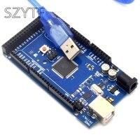 Freeshipping Mega 2560 R3 Mega2560 REV3 ATmega2560 16AU Board USB Cable
