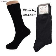 Fcare 10 шт = 5 пар 40,41, 42,43, 44,45 большие длинные ноги деловые носки calcetines мужские теплые Свадебные черные носки