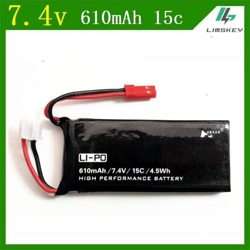 Battert li-po de 7,4 v 610 mah para Hubson H502 H502E recambios de cuadrirrotor RC 7,4 v 610 mah 15c 4.5Wh juegos de baterías