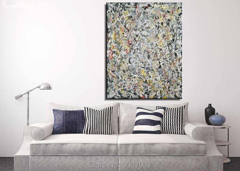 Jackson White Light Still life Hand Painted Abstract oil Painting Drawing Art Unframed Canvas Gemstone Wall airbrush Home Decor