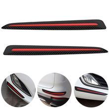 Protector de parachoques para coche, tiras antiarañazos, pegatina de protección, rayas de borde Exterior, decoración antiarañazos, 1 par