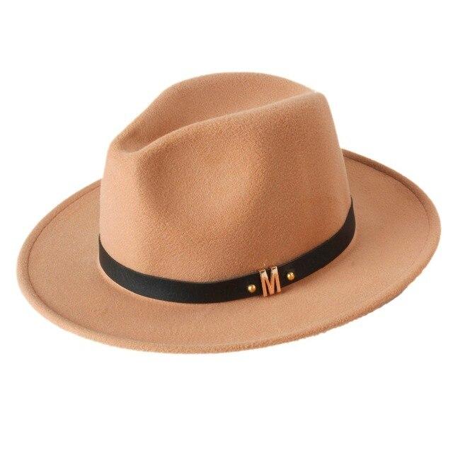 85b5e16c81c0d Unisex Women s Men s Summer Wool Chapeu Feminino Sun Hat For Gentleman  Laday Church Cap Panama Fedora Top Sunhat