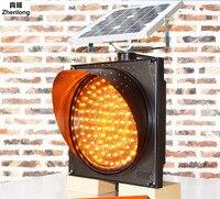 Led Solar Powered Yellow Flashing Lights Solar Traffic Lights Flash Municipal Yellow Flashing Lights Traffic Warning Lights