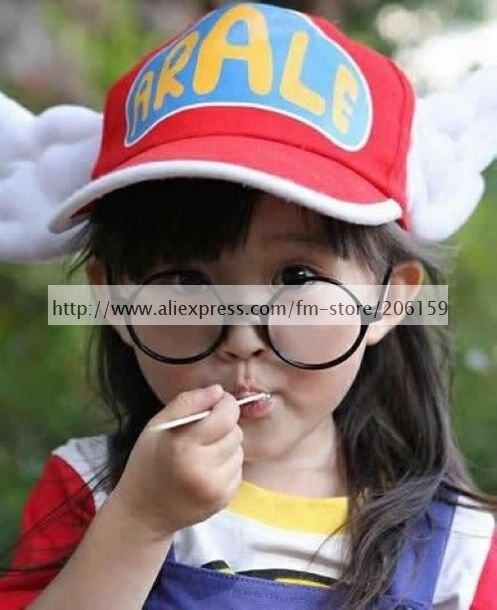 Carino Dr. Slump Arale Chan COSPLAY Angel Wings Cappello Bambini Versione  Con Gli Occhiali in Carino Dr. Slump Arale Chan COSPLAY Angel Wings Cappello  ... cd3bd9e9048d