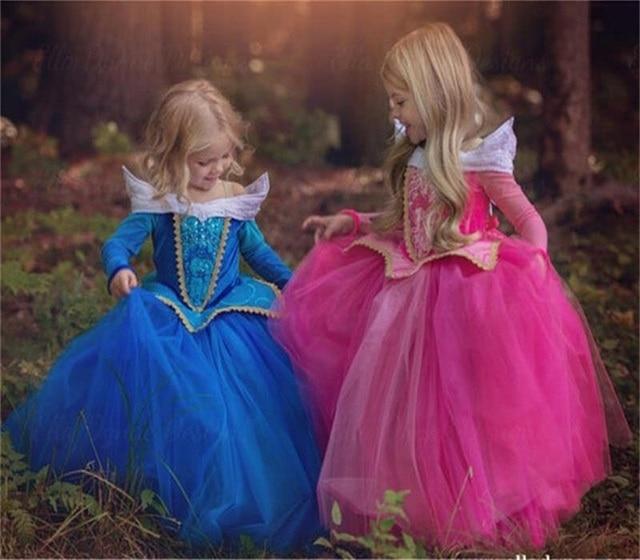 autumn girl dresses children cartoon princess halloween costumes fancy ball kids party dress girls clothes for