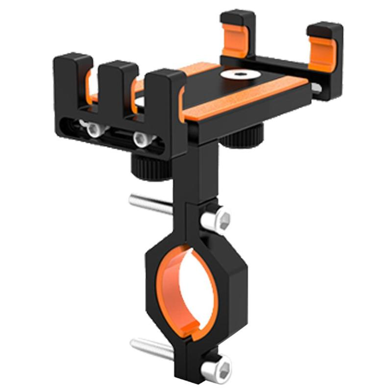 Bicycle Motorcycle 4.0-6.5 Inch Phone Holder Bracket Handlebar Clip Stand Support Bicycle Accessaries Phone Mount Clip Bracket