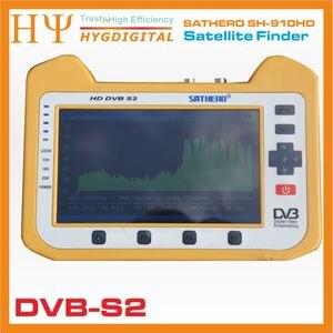 Image 3 - [حقيقية] ساثيرو SH 910HD DVB S2 الرقمية جهاز قياس القمر الصناعي Satfinder HD مع الوقت الحقيقي محلل الطيف وظيفة 7 inch