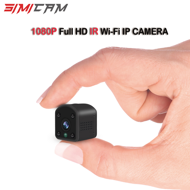 CCTV Camera Ip 1080p Full HD Mini Pocket  Camera Wifi Wireless IR Night Vision Alarm Sound And Image Synchronous Phone App