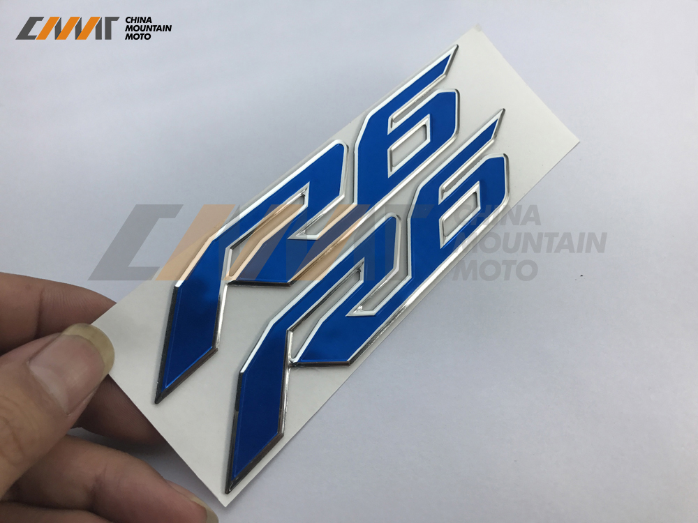 Motorcycle Sticker 3D R6 Badge Stickers Case For YAMAHA YZF600 R6 YZF-R6 2017-UP R6 3D LOGO