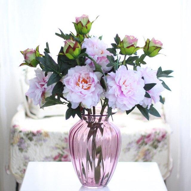 Lebendige Kunstliche Blumen 7 Farben Kunstliche Pfingstrose Blumen