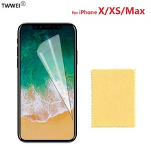 Glossy Clear LCD Screen Protector for iPhone XS Max X Protective Film on for iPhone X XS Max Screen Protector Film Foil