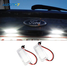2PCS Canbus LED License Plate Light 18LED Lamps For Ford Focus Fiesta Mondeo MK4 Kuga Galaxy S-max C max Mk2 DA3 MK3 MK5 MK6