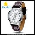 100/lot PU watchband vogue NARY attractive Japan movement couple watch(WJ-3120)