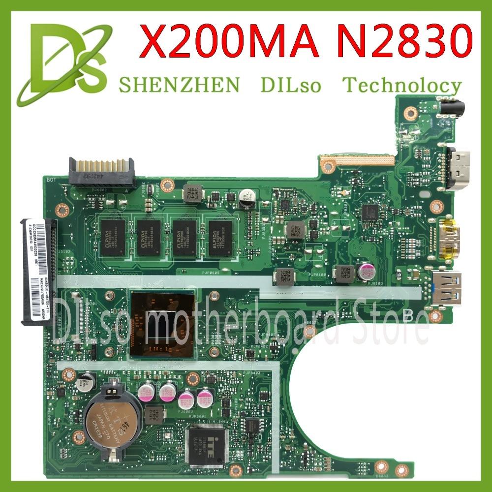 KEFU X200MA For ASUS F200MA X200MA Laptop Motherboard N2840 CPU 4GB MEMORY Motherboard  REV2.1 Test