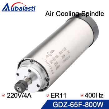 Air cooling spindle 800w GDZ-65F-800 800w diameter 65mm speed 24000rpm  frequency 400hz 4A  chuck nut  er11   grease