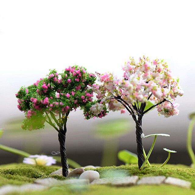 Mini Tree Plants Miniature Fairy House Dollhouse Garden Diy Micro