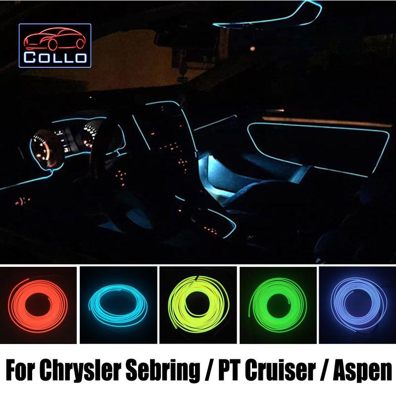 Flexible Neon Cold Light / 9 Meter EL Wire For Chrysler Sebring / PT Cruiser / Aspen / Car Central Control Desk Decorative Strip chrysler pt cruiser 2 0 i 16v