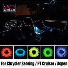 Гибкий Неон Холодный Свет/9 М EL Провода Для Chrysler Sebring/PT Cruiser/Аспен/Автомобиль Центральный Пульт управления Декоративные Полосы