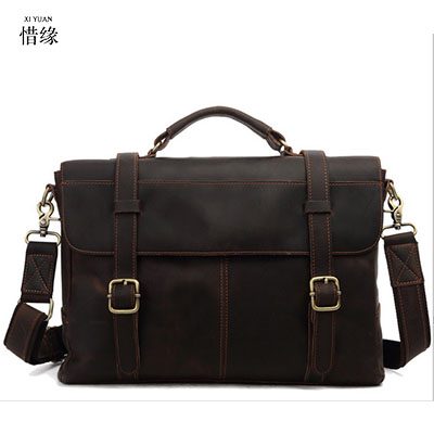 XI YUAN Genuine Leather Men Bags Hot Sale Male large Messenger Bag Man Fashion Crossbody Shoulder Bag Men's Travel New Bags gift xi yuan 2017 genuine leather bags men high quality messenger bags small travel dark brown crossbody shoulder bag for men gifts