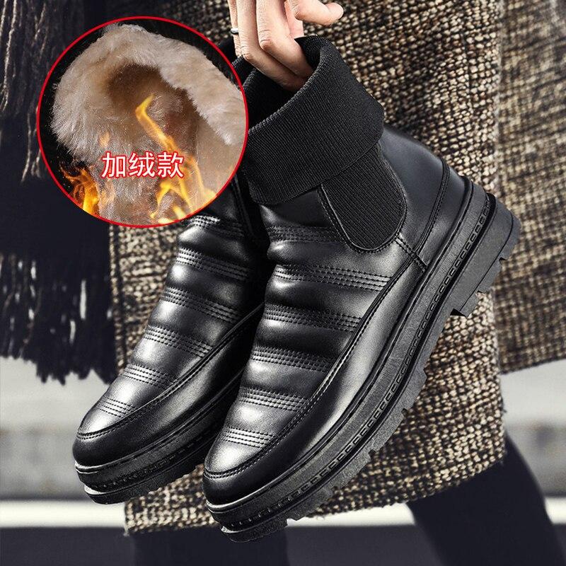 Männer Stiefel Winter mit Pelz 2018 Warme Schnee Schnee Männer Winter Stiefel Schuhe Männer Schuhe Mode Gummi Ankle Schuhe 5