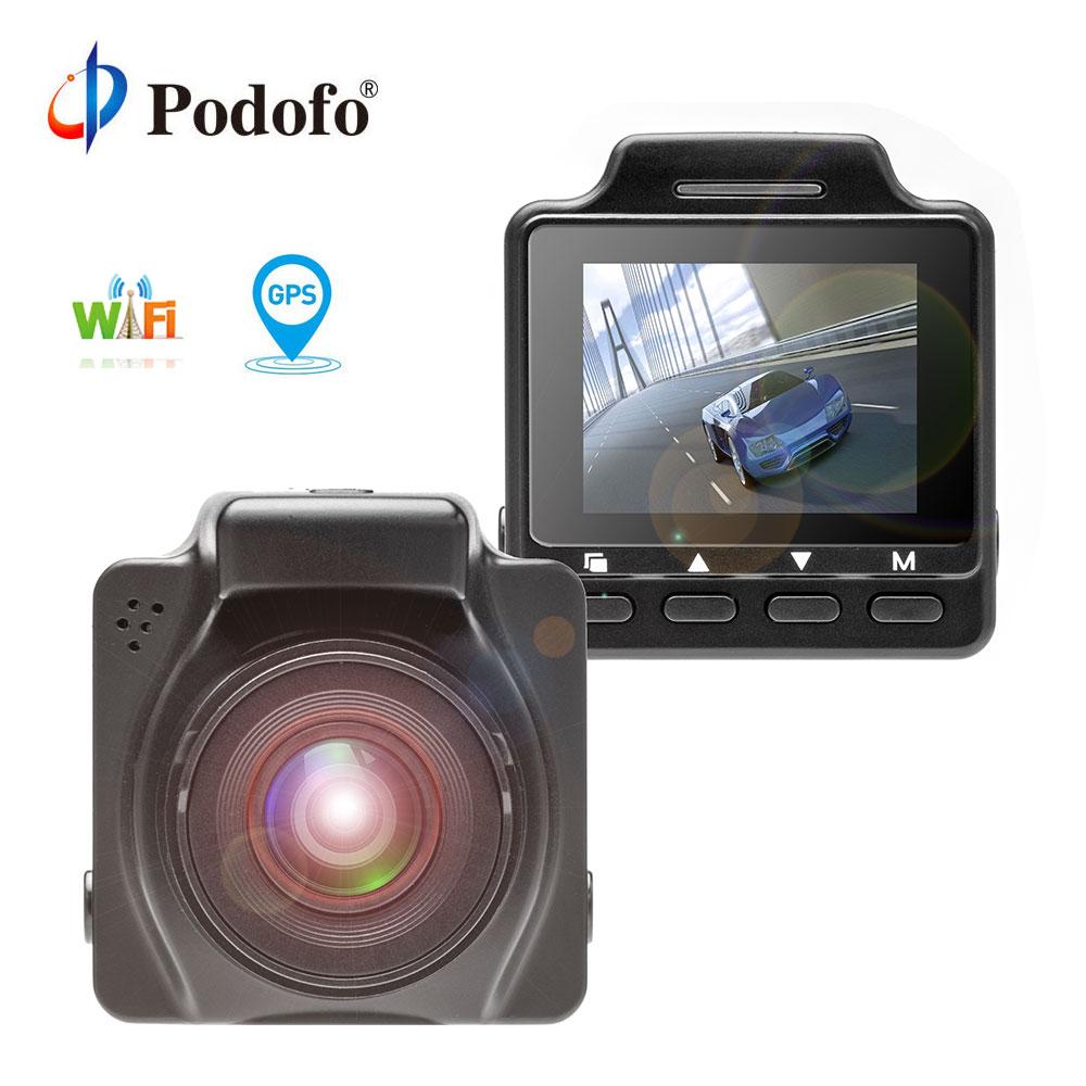 Podofo Novatek96658 1.5'' Car DVR Wifi GPS DVRS Video Recorder Dash Cam Camcorder WDR FHD 1080P Dashcam Night Vision G-Sensor цена