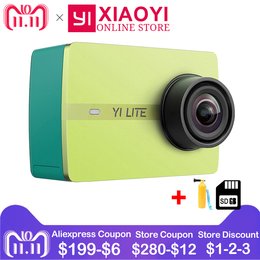 Xiaomi YI Lite Action Camera 16MP Real 4K Sports Camera with Built-in WIFI 2 Inch LCD Screen 150 Degree Wide Angle Lens free shipping bela 9788 ninja diy construction bricks toys for children