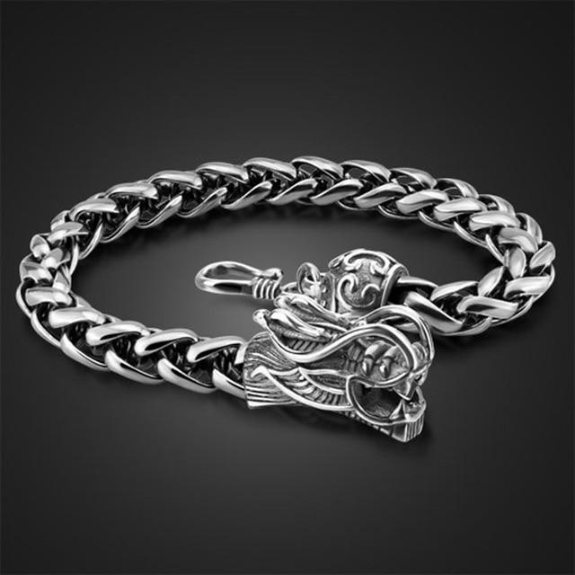 58499bff94f8 Joyería de moda pulsera de energía para hombre Accesorios pulseras de plata  tailandesa plata 925 pulsera
