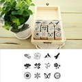 free shipping Wooden Stamps nature pattern stamp set