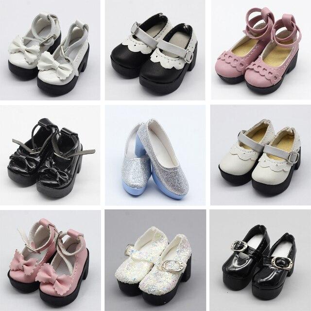 1 para 1/4 BJD pu skórzane buty dla lalek dla małych 16 cali Sharon odzież dla lalek akcesoria zabawki 6.3*2.5cm