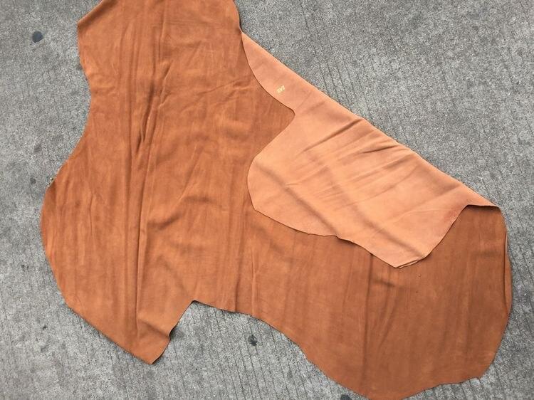 Tapicería de vaca gamuza genuino dividir cuero de piel de vaca venta por pieza entera - 2