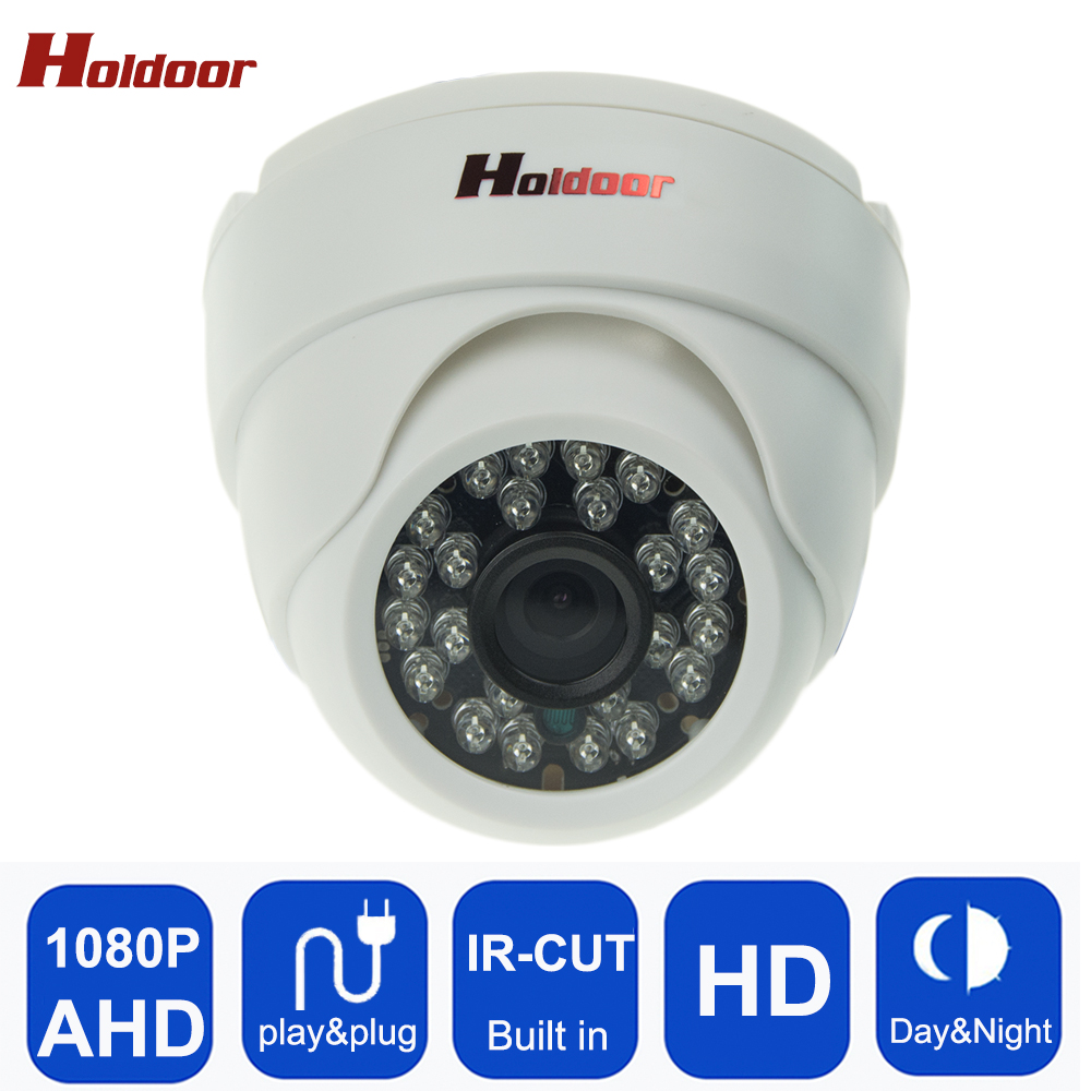 bilder für AHD 1080 P IR Mini-dome-kamera Analog 2MP AHD Kamera innen IR CUT 24 LEDS Nachtsicht Plug and Play Mini Dome sicherheit kamera