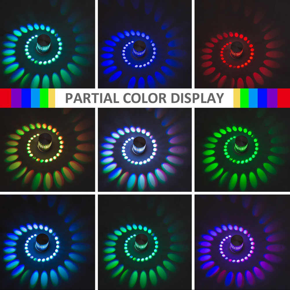 Led Lobby Ktv Light With Bar Hole For Spiral Effect Lamp Colorful Home Remote Rgb Wall Wandlamp Decoration Controller Party 4Ac35jqRL