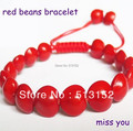 Natural acacia red thread bean seeds bracelet for women red string knitted bodhi beans charm bracelets men jewelry gifts 0170