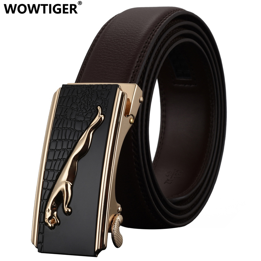 WOWTIGER   Belt   High Quality Male New Designer Automatic Buckle Leather Men Luxury Fashion Business   Belts   For Men