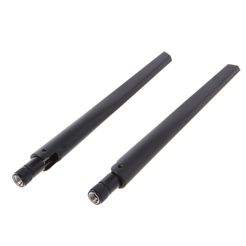 New 3pcs 6dBi Dual Band RP-SMA WiFi Antennas With 3pcs U.Fl Cables 12in length