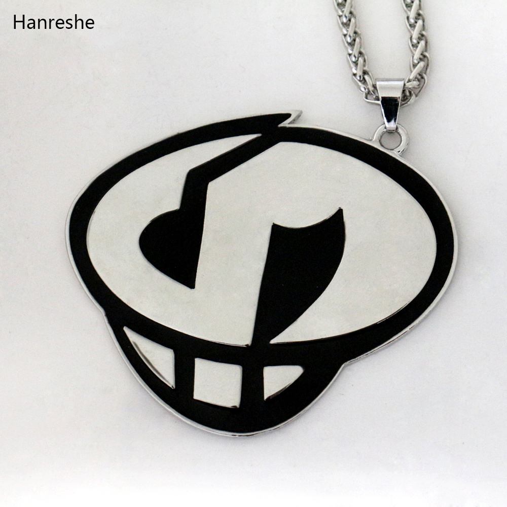 HANRESHE New in 2Colors Pokemon Sun and Moon Team Skull Grunts Game Hip hop Steampunk Chain Necklace fashion jewelry(China)
