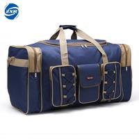 Thick Canvas Training Bag Waterproof Mens Gym Bags Long Strap Anti Scratch Muliti Pocket Large Capacity