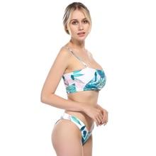 Bikinis 2019 Women Femme women Swimwear Sexy Lemon stripes print Swimsuit Bikini push-up padded swimsuit low waist beach