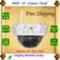 Plastice WIFI 960 P IR Domo a prueba de Vandalismo de Interior CCTV Cam 1.3MP onvif cámara ip motion detectar alarma del email ftp p2p mobile view