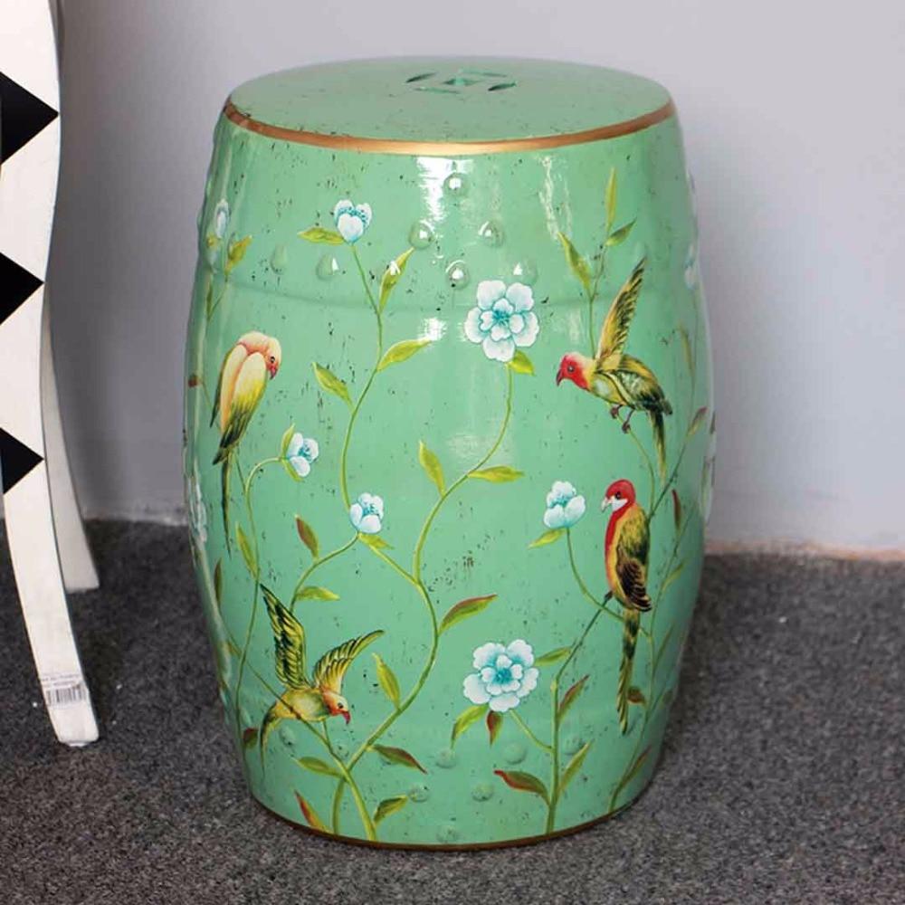 все цены на Beautiful flower and bird design chinese ceramic living room furniture seat stool онлайн