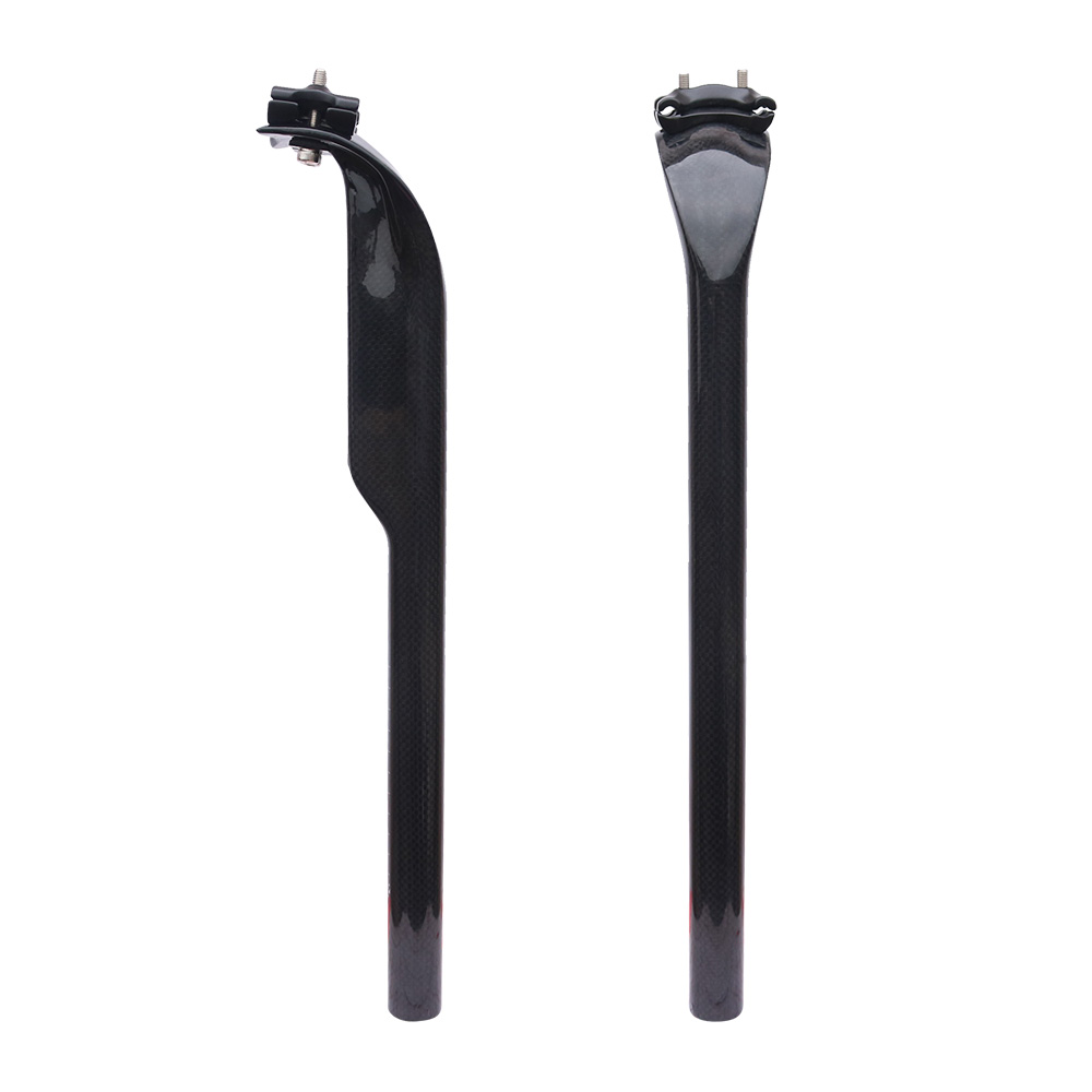 FCFB  Road bicycle 3K full carbon fibre seatpost Mountain carbon bike seatpost MTB parts no logo 3K  27.2/30.8/31.6*400mm ud 3k full carbon fibre bike carbone mtb road bar seat 27 2 30 8 31 6 400 bicycle parts 400mm mountain handlebar use bicicleta
