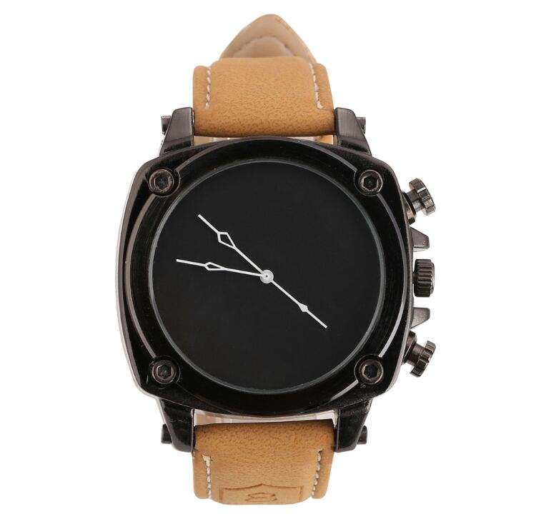 2016 new Quartz Movement Tan Leather Band New Design Men Watch relogios Style Y45